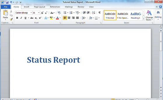 Tutorial Creating a Report Template – Word Report Template